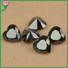 factory price heart black spinel faceted beads