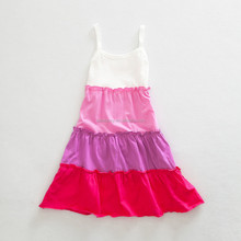 girl pink lovely rumba salsa spanish dance dress QGD-1687