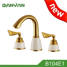 3 Holes Plating Solid Gold Faucet