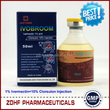 (ivermectin/clorsulon) Injection for Cattle internal parasites/including liver flukes