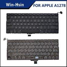 laptop keyboard for macbook pro unibody 13'' a1278
