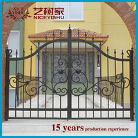 House main gate/iron gate grill designs and wrought iron component for fence and gate