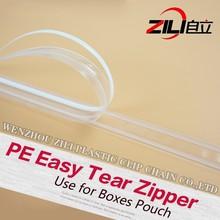 PE Easy Tear Zipper For Square Bottom Bag
