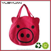 2015 HK fair large capacity good quality popular Green eco-friendly girls Shopping polyester bag