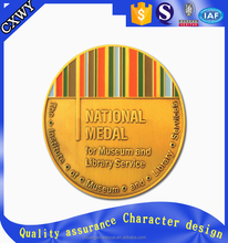 Gold old coin with custom