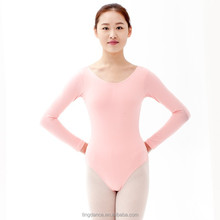 round neck long sleeves cotton adult leotards