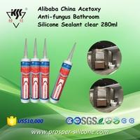 Alibaba China Acetoxy Anti-fungus Bathroom Silicone Sealant clear 280ml