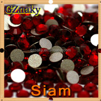 ss20 Siam flatback non hotfix rhinestone for cell phone case and Nail art decoration
