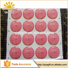 High quality 3D custom self adhesive dome round clear epoxy resin sticker