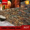 Natural slate gold rock wall panel cladding stone