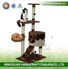 new luxury wooden cat tree toys with hammock wholesale from china