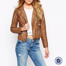 leather look biker jacket latest design outdoor motorcycle leather jacket wholesale