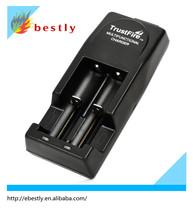 trustfire cargador bateria de litio recargable 3.7v cargador inteligente con la ue/nosotros/au/enchufe del reino unido de iones