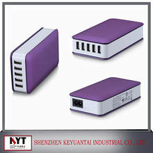 New product Fast 50 watt 5 ports USB charger with intelligent switching for all brand phone