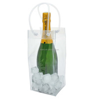 Best Quality pvc ice bag for cooling wine/Colorful Plastic Ice Bag