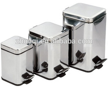 de acero inoxidable rectangular cesta de basura cubo de basura puede