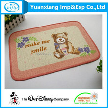 Hot Selling Wholesale Antislip Animal Bear Printing Fashion Floor Mat
