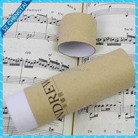 Kraft paper cardboard cylinder shape tube gift box with lid
