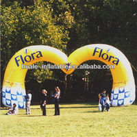 Yellow heart shape wedding inflatable arch