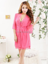 Wholesale paypal accept women pink sexy nighty dress picture