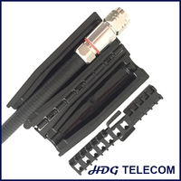 """Slim Lock Closure Family for wireless weatherproofing applications, Gel seal closure, 1/2""""S to RRU bolt (N connector)"""