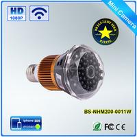 Wifi IP Light Bulb 1080p Wireless Spy Cam HD Hidden Camera