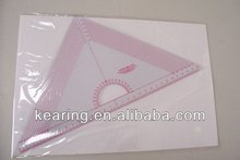 Kearing brand,handicraft triangle quilt ruler,sewing grader ruler with protractor #T045
