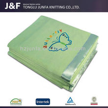 Children cotton knitted super soft animal print fleece blanket