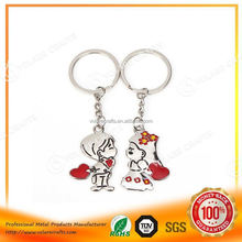 High quality wholesale kitchen knife shape metal keychain