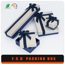 Custom Fashion Luxury Ribbon Printed Paper Jewelry Packaging Box
