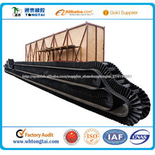 pared lateral corrugada cinta transportadora resistente a la abrasión
