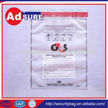 tamper evident reusable pouch/police evidence bags heat seal/plastic bag security seal