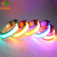 Fashion flash led flashing dog collar for pets dog leash led wholesale pet collar