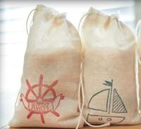 customized eco cotton gifts drawstring bag