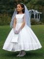 mangas de cetim crianças vestidos de festa Vestido Da primeira comunhão