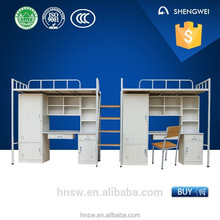 2015 fashion attached 2 pcs single bunk bed mattress with drawer cabinet