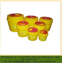 plastic disposables yellow color sharpes container /sharpes bin for medical waste handling
