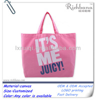 pink canvas wholesale tote bags