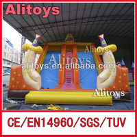 sword theme slide inflatables/commercial inflatable slide