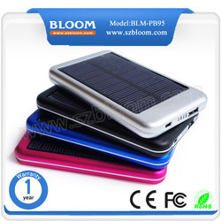 5000mah Outdoor solar power charger solar power bank charger power