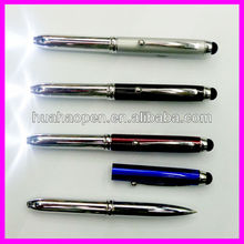 2015 led laser touch screen pen pen with laser led touch stylus for ipad smartphone