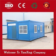 economical modern steel structure prefab fast installation flat pack container office with flat roof