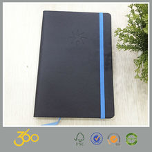 Promotional custom hardcover pu leather notebook,leather cover pu notebook