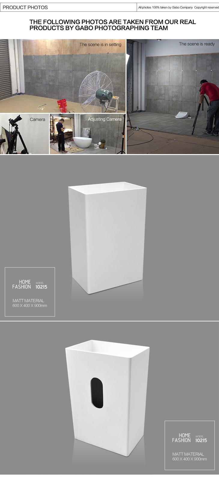 made in guangdong china rechteckige kunststoff stein becken-bad, Garten und erstellen
