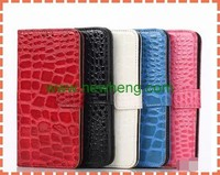 For Samsung Galaxy S6 Wallet Crocodile Leather Case with Card Slots
