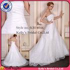 um tamanho cabe tudo vestido strapless organza pleating padrão livre vestido de casamento árabe