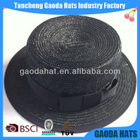 Wholesale Black Drinking Straw Hat For Party