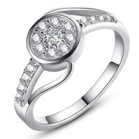 Wholesale jewelry plating platinum created diamond ring ms single ring Beautiful middle finger wedding ring