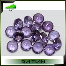 round diamond/natural cut 8mm synthetic corundum change color beads gemstone