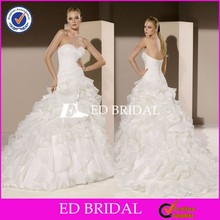 2015 Sexy Design Modified A Line Ruffle Organza Alibaba Wedding Dress Online Sale
